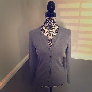 BananaRepublic SILK39% Sweater w/Gorgeous Buttons!
